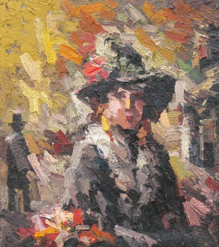 Иван Агеев. Девушка с цветами. 60х50 см. Холст. Масло.