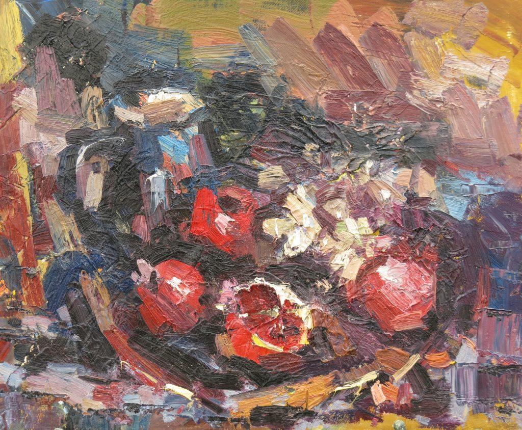 Кувшин и фрукты. Иван Агеев. 50х60 см. Холст, масло.