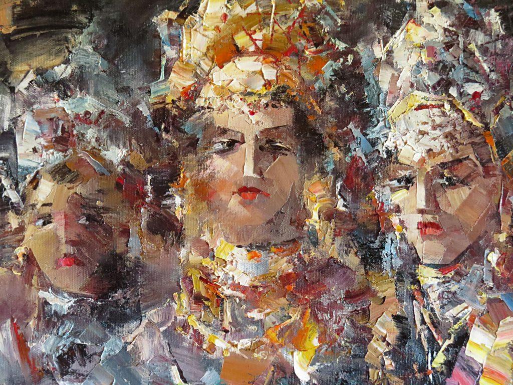 Три царевны100х90 300 2015 г. фрагмент-2 Иван Агеев. Серия Портрет
