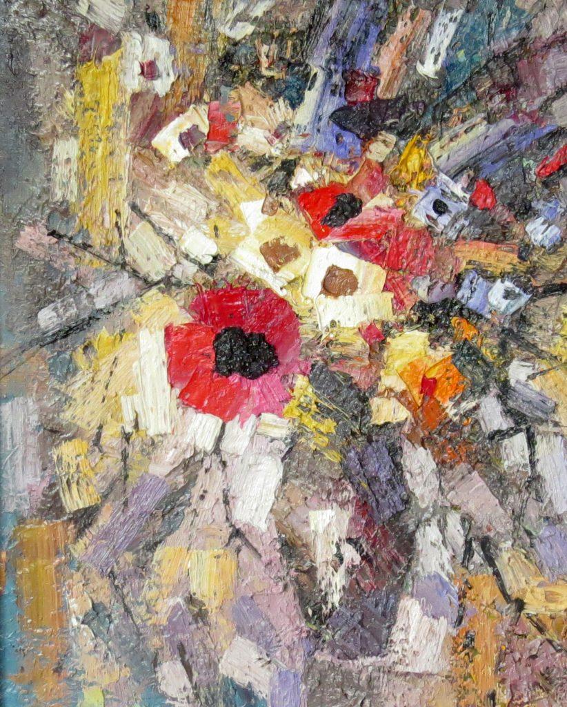 Иван Агеев. Цветы на светлом фоне. 50х40 см. Холст, масло.