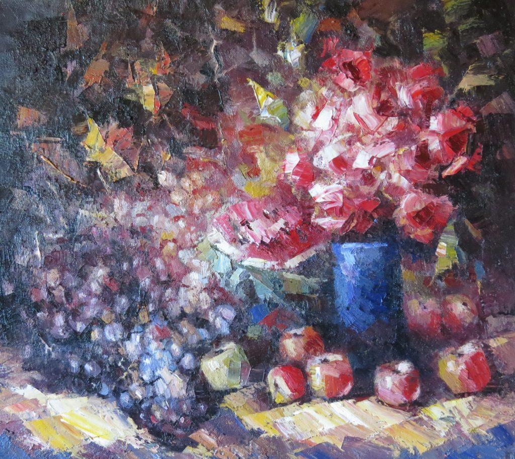 Натюрморт с фруктами 80х90 100
