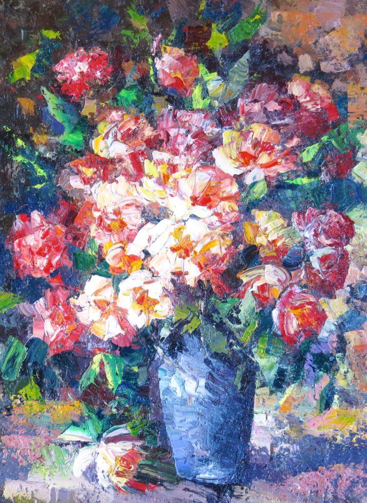 Иван Агеев. Осенние цветы 80х60 см. 100