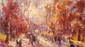 Иван Агеев. Осенняя аллея 40х70 см. 70
