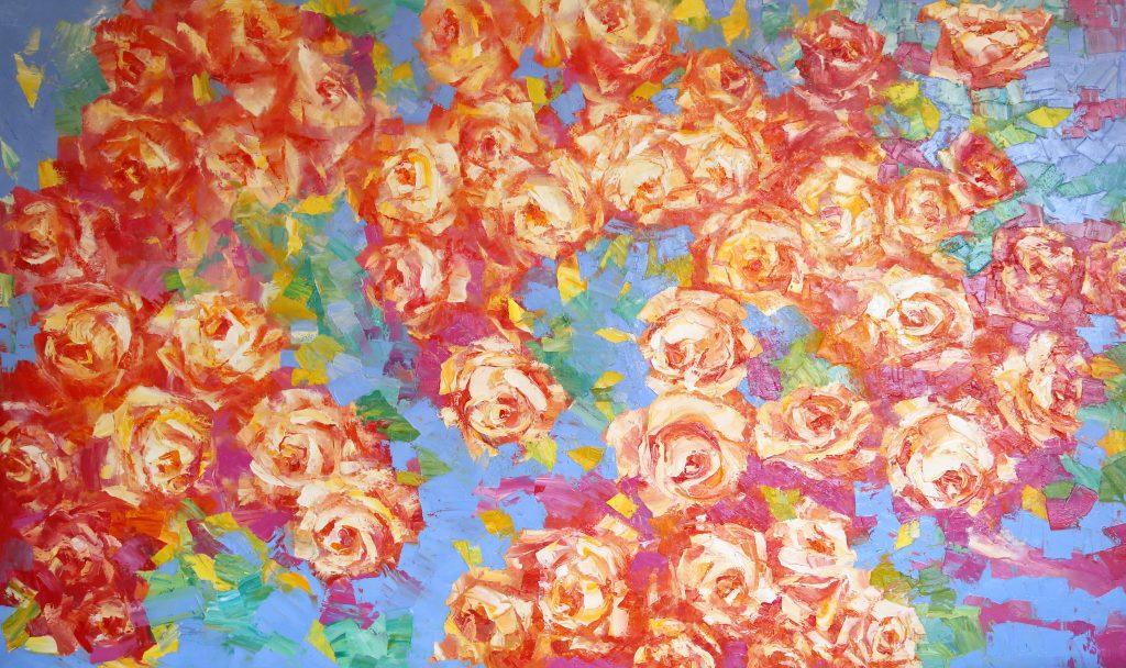 Иван Агеев. Розовый вальс 150х250 см. 900