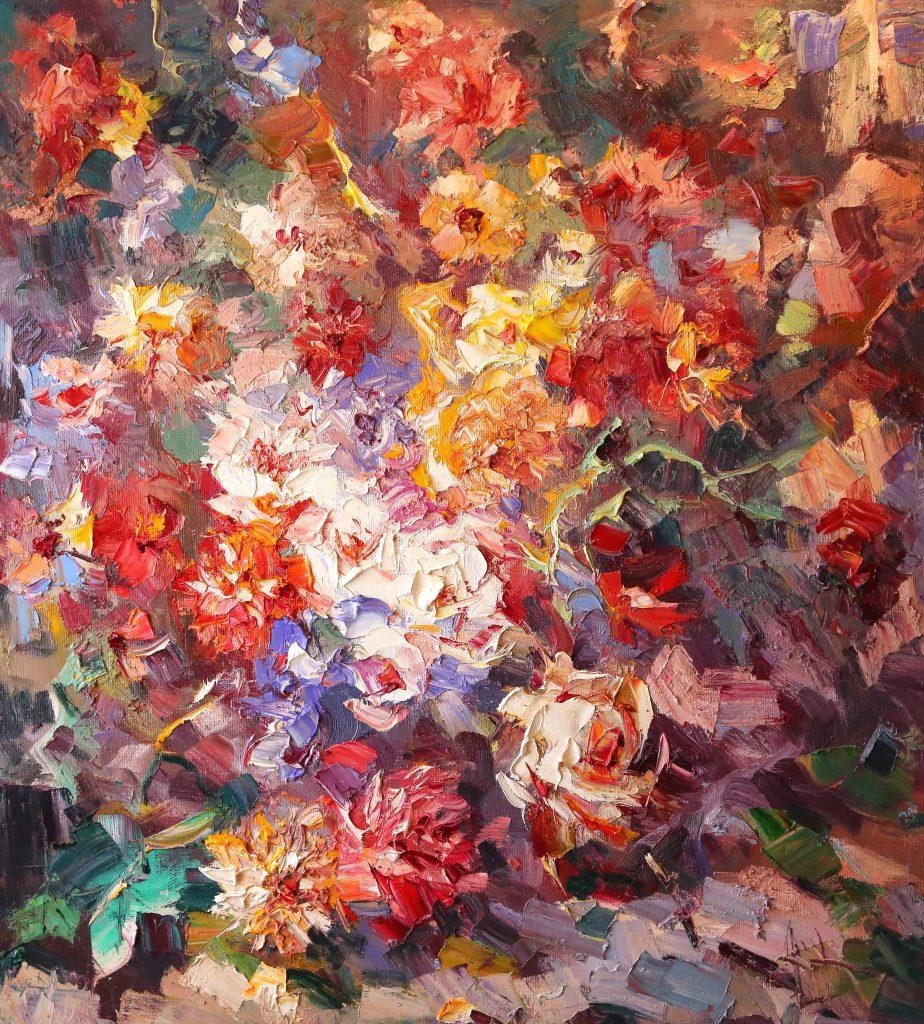 Иван Агеев. Цветочный рай 100х90 см. 200