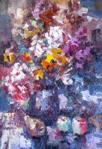 Иван Агеев. Цветы и фрукты 103х73 см. 200