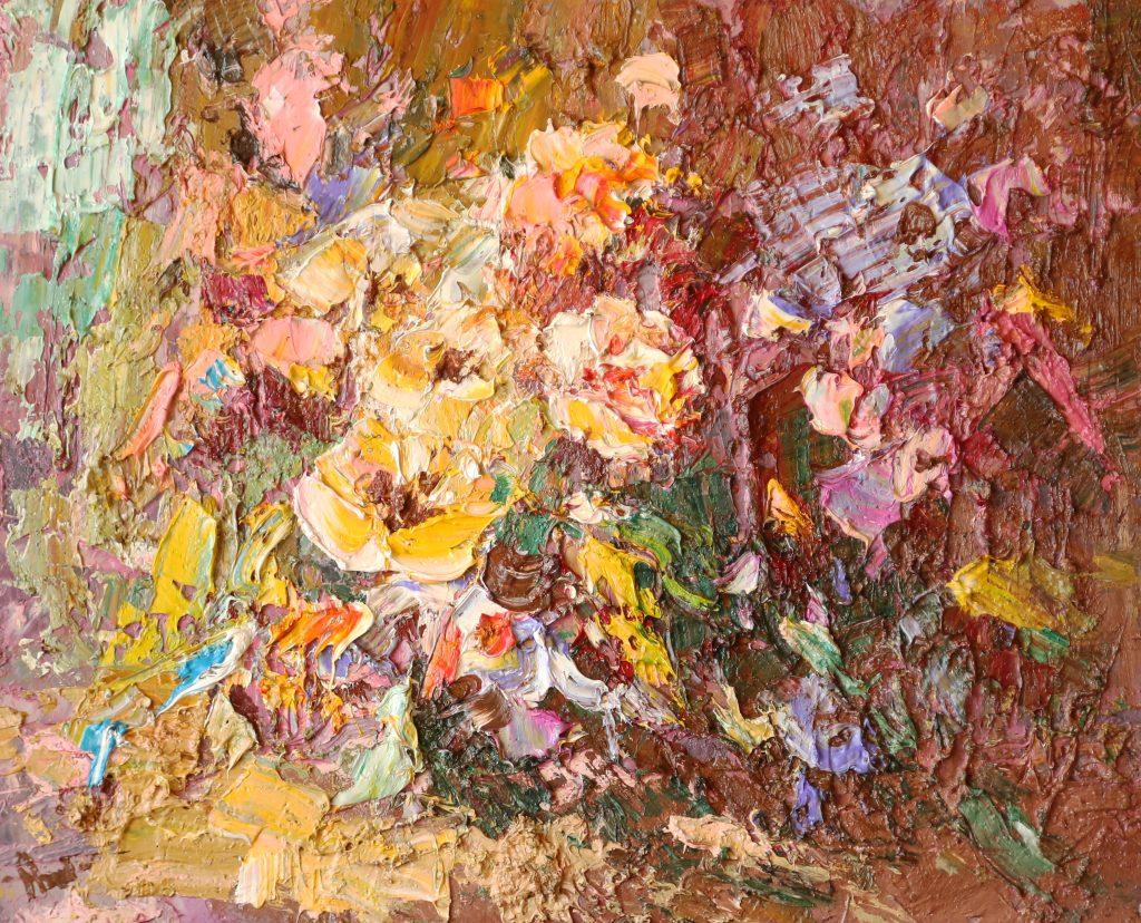 Иван Агеев. Цветы у окна 50х60 см. 70